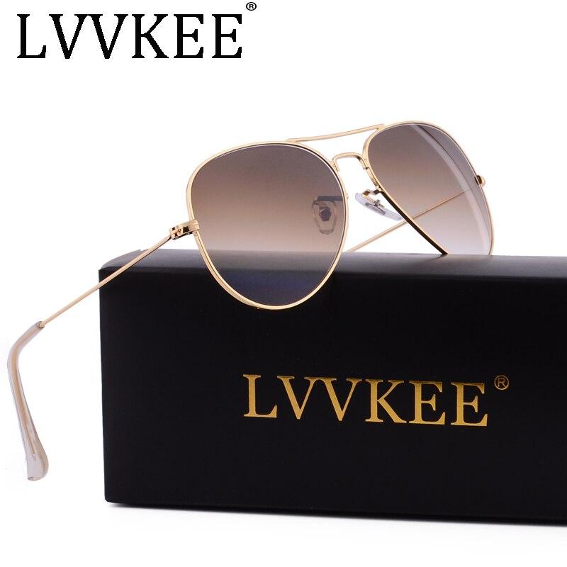Classic brand Glass Lenses 3025 sunglasses men/women brown Gradient G15 sunglass Gafas oculos de sol masculino rays