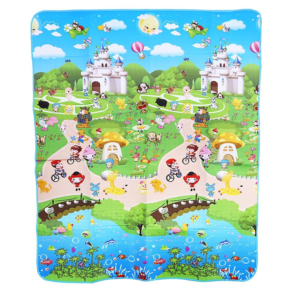 Soft Infant Play Mat Childrens Floor Rug Dinosaurs Paradise Foam Crawling Toy Non-Slip Reversible Waterproof Baby Game Mat