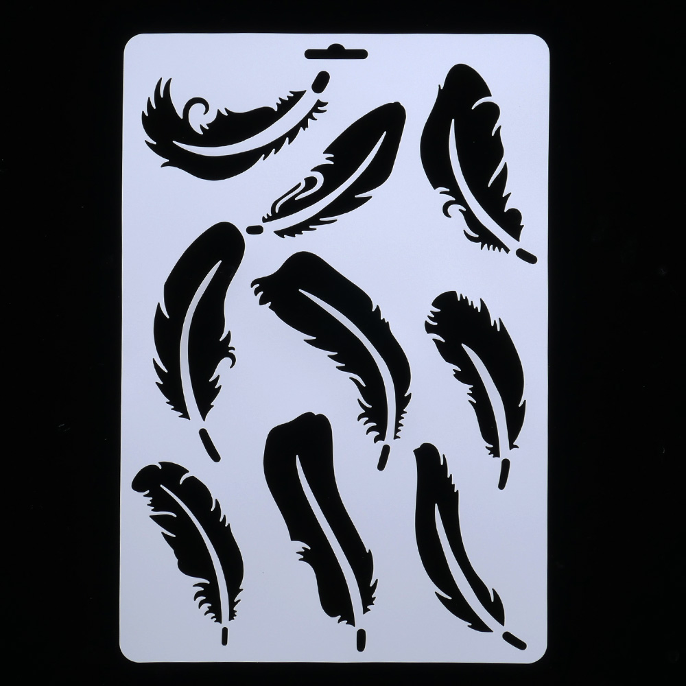 DIY Craft Feather Layering Stencils For Walls Painting Scrapbooking Stamping Stamps Album Decorative Embossing Paper Cards