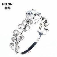 Твердые 14 k White Gold свадебное кольцо для женщин кольцо на головщину Натуральный топаз бабочка Filligree Millgrain Art Nouveau классический