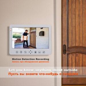 Image 3 - HomeFongวิดีโออินเตอร์คอมแบบมีสาย10นิ้วBuilt In Power Supply 130องศากล้องHome Intercom Motion Detectบันทึก