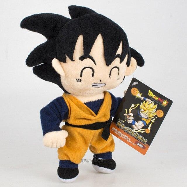 18 centímetros Anime Dragon Ball Z Son Goku Recheado de Brinquedos de Pelúcia de Alta Qualidade Bonito 2 Estilos Formar Goku Brinquedo de Pelúcia presente de Aniversário para crianças
