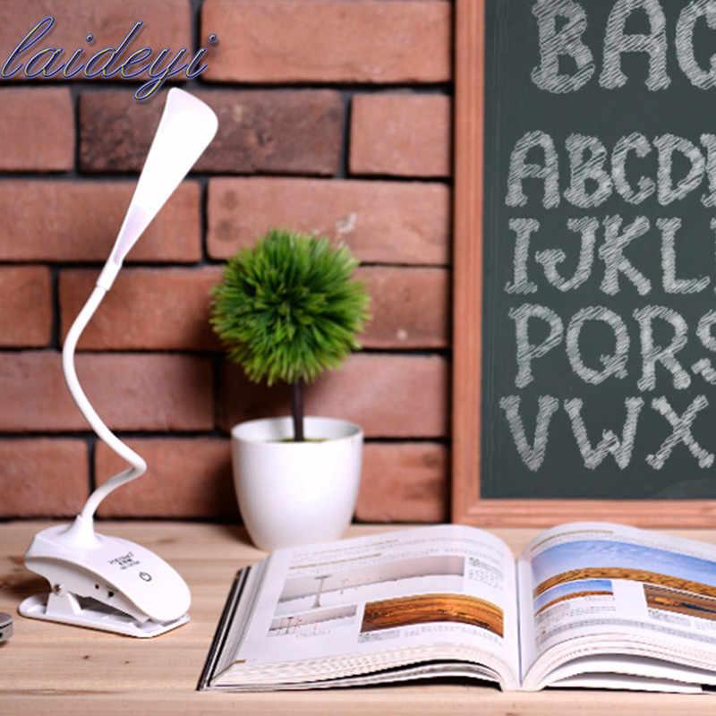 LAIDEYI умный сенсорный тип защита глаз настольные лампы зажим для чтения складной зажим USB Детские светодиодные настольные лампы Прямая доставка