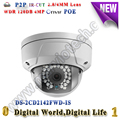 4MP IP wdr 120db camera DS-2CD2142FWD-IS Dome IP Camera POE Onvif Full HD 1080P Network camera with SD card slot alarm & audio
