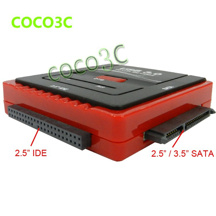 USB 3.0 To 2.5 3.5 SATA IDE HDD, CD-ROM CD-R adapter 1 SATA  to 2 IDE Data Offline Clone One button back up function (3)