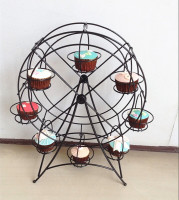 Wrought iron metal display holder for dessert cake with the ferris wheel cupcake stand 8 cups