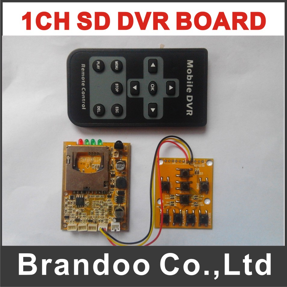 Customized 1CH SD DVR module, with mini keypad and SD extended 10cm customized 1 channel mini sd recorder main board dvr module odm offer micro dvr board