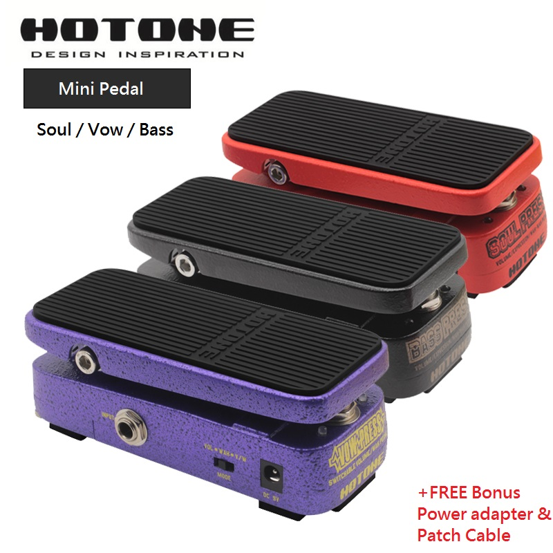 Hotone Soul/Vow/Bass Press 3 in 1 Mini Volume/Wah/Expression Effects Pedal Vow Switchable Volume /Wah Original CryBaby wah pedal hotone soul press volume expression wah wah guitar pedal cry baby sound