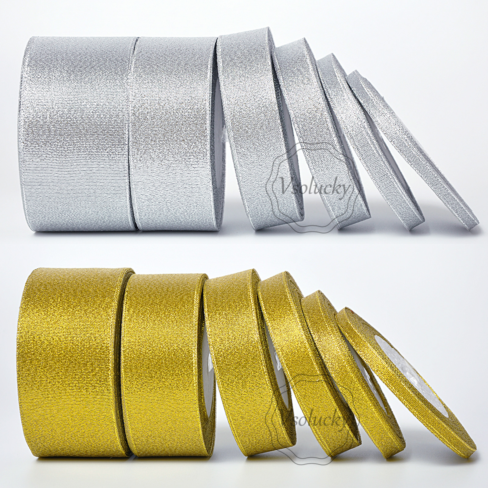 25mm large *** - *** gold organza ruban de NOEL