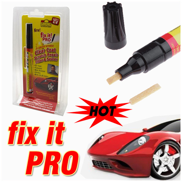 Dropshping Fix it PRO Painting Pen Car Scratch Repair for Simoniz Clear Pens As seen on TV Retail Packing