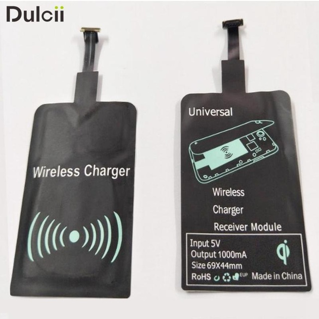 DULCII Universal Micro USB Plug Qi Wireless Charging Receiver Pad ...