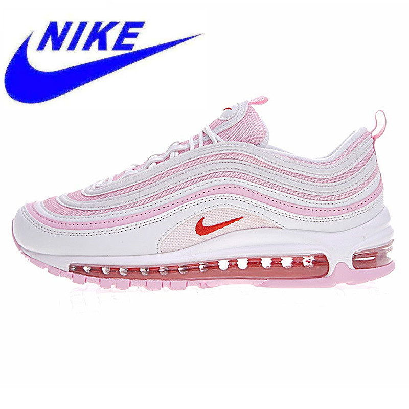 bb354e8632b16 Original Nike AIR MAX 97 OG Woman Cherry Powder Bullet Full Palm Cushion Running  Shoes