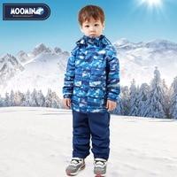 Moomin 2016 new arrival Autumn Warm Children Clothes Set Character waterproof windbreaker Turtleneck Zipper Boys clothes set