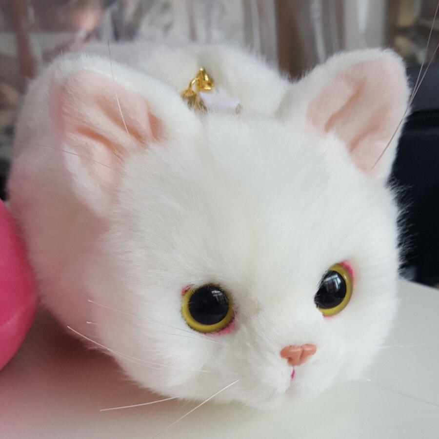 Cartoon mignon chat forme chaînes femmes sacs à bandoulière personnalité kitty Messenger sacs dames 3D Animal sac à bandoulière pour adolescent - 5