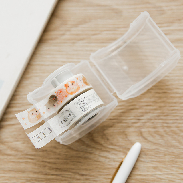 Stationery Masking Tape Cutter Washi Tape/Storage Box