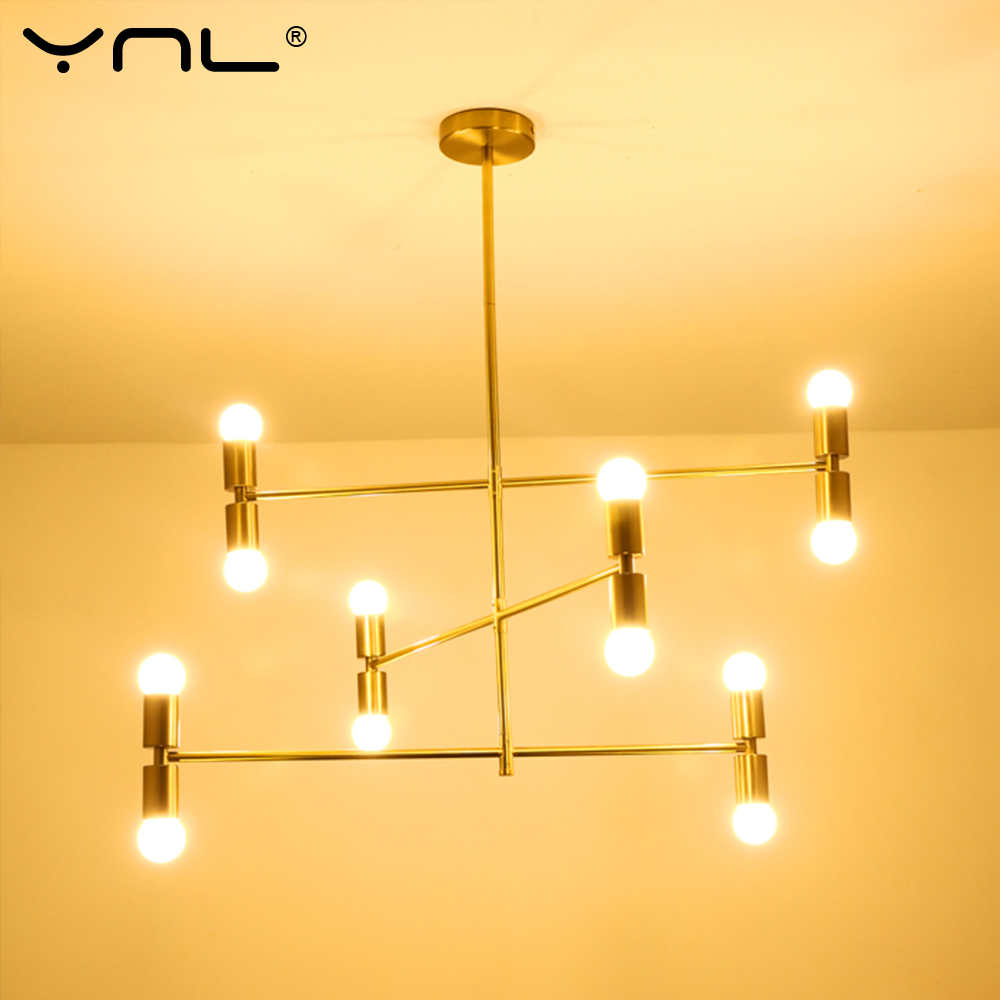 Modern cross Style 12heads LED Pendant lamp lights bedroom dinning room kitchen gold nordic modern Pendant lighting hanging lamp modern cross style led pendant lamp lights bedroom foyer dinning room kitchen gold nordic modern pendant lighting hanging lamp