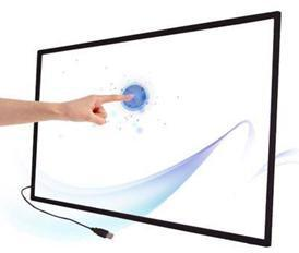 USB 2 points IR touch screen frame 46 inch Infrared multi touch screen overlay for Windows 7/8/XP Android touch screen