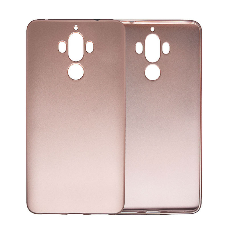 Huawei Mate 9 Kasus Simple Metallic Finish Lembut Silicone Ponsel - Aksesori dan suku cadang ponsel - Foto 6