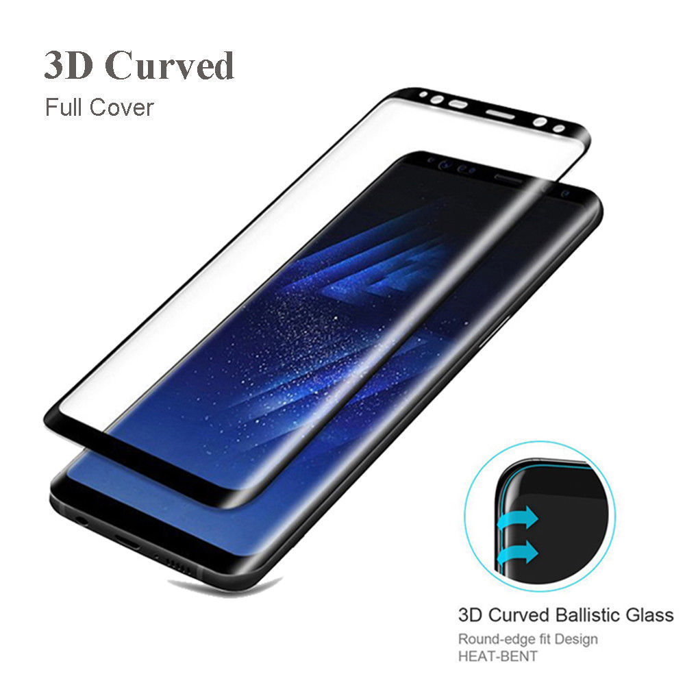 EKDME Tempered Glass For Samsung Galaxy S10 Plus S10E S9 S8 Plus Note 8 9 S7 Edge S6 Edge 3D Round Curved Full Cover Screen image