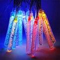 Natal Solar LED Luzes Cordas 4.8 m 20 LED Bolha Bar Pega Cone Lâmpadas luces navidad Garland Fada Do Jardim Ao Ar Livre luzes