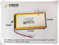 3 7V 16000mAH 1569125 Polymer Lithium Ion Li Ion Battery For Tablet Pc Power Bank CUBE
