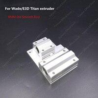Funssor Reprap Prusa i3 3D yazıcı parçaları X eksen Metal exturder arabası alüminyum alaşım wade/titan ekstruder|i3 3d|parts 3d printerprusa i3 metal parts -