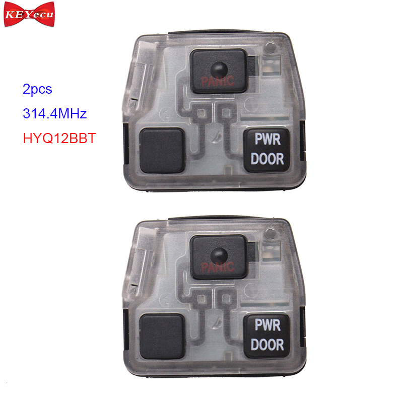 KEYECU 2pcs for Lexus RX330 RX350 RX400h Remote Car Key Fob Control Board 3 Button 314.4MHz HYQ12BBT