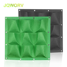 50*50cm 9-hole wall-mounted planting bag Green plant wall Flower vine Hanging Felt Thick non-woven fabric Garden supplies
