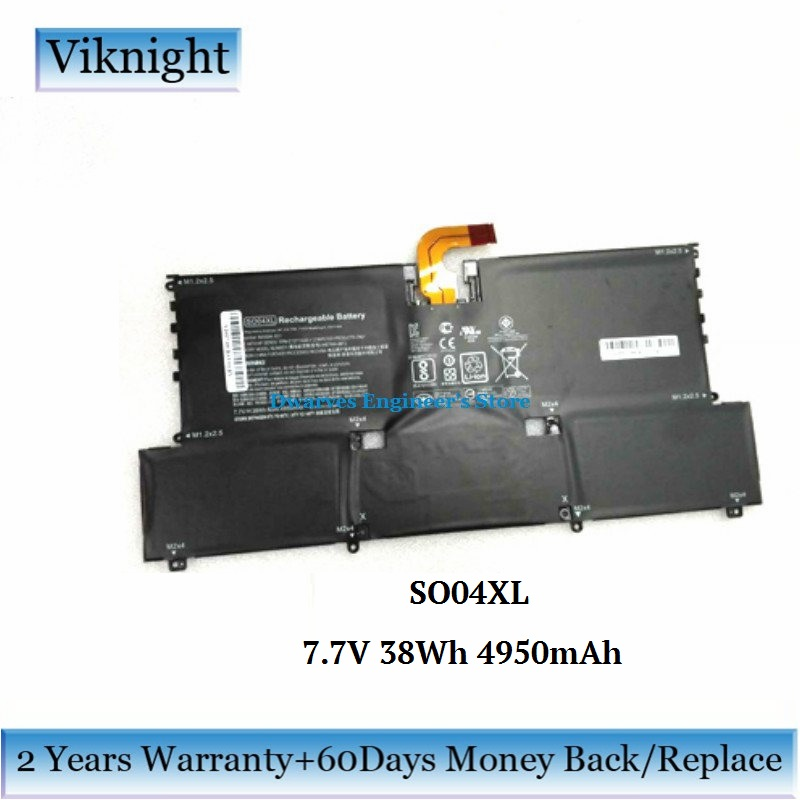 Original 7.7V 38Wh SO04XL Battery For HP Spectre 13 Laptop Battery 843534-1C1 844199-855 HSTNN-IB7J S004XL SOO4XL TPN-C127