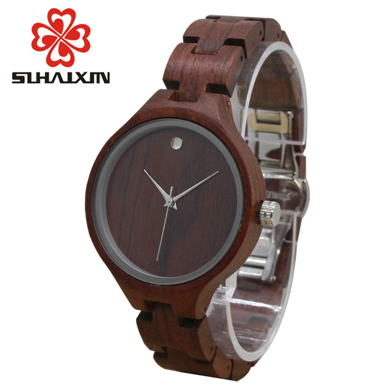 SIHAIXIN Vintage Wooden Women Watches Female Natural Bamboo Wood Watch 2018 Luxury Brand Ladies Wood Bracelet Quartz Clock Lady luxury fashion wood watch for women simple design natural bamboo wooden casual quartz wrist watch men ladies clock