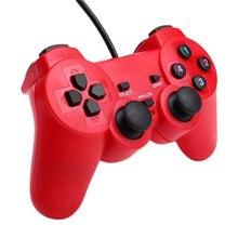 Cewaal Вибрационный двигатель Шок Вибрация USB проводной игровой контроллер геймпад джойстик контроллер для Windows PC поставляется подарок для мальчика Мужчины