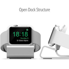 Luxury Stand For Apple Watch Holder Hand Free Cable Hole Charging Support Aluminum Bracket For iWatch Watch Dock Stand Holder apple watch stand iphone display holder iwatch charging dock tablet bracket ipad display acrylic for smart watch exhibit