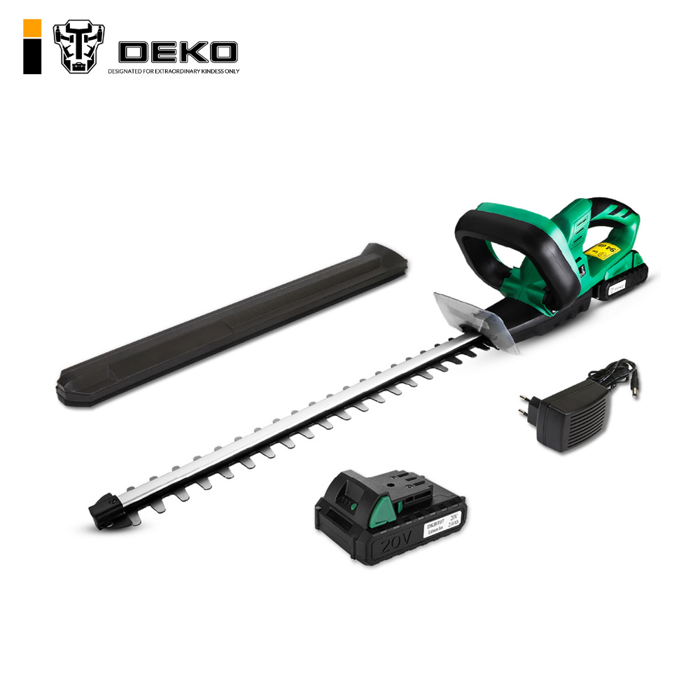 DEKO 20V Lithium 2000mAh Cordless Hedge Trimmer Quick Charge Rechargeable Electric Trimmer Pruning Saw with Dual
