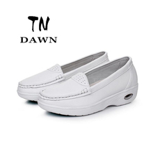 New Style Women Concise Non-Slip Breathable Casual Loafers Female Soft Comfortable Shallow Mouth Wedges Shoes Plus Size 34-41