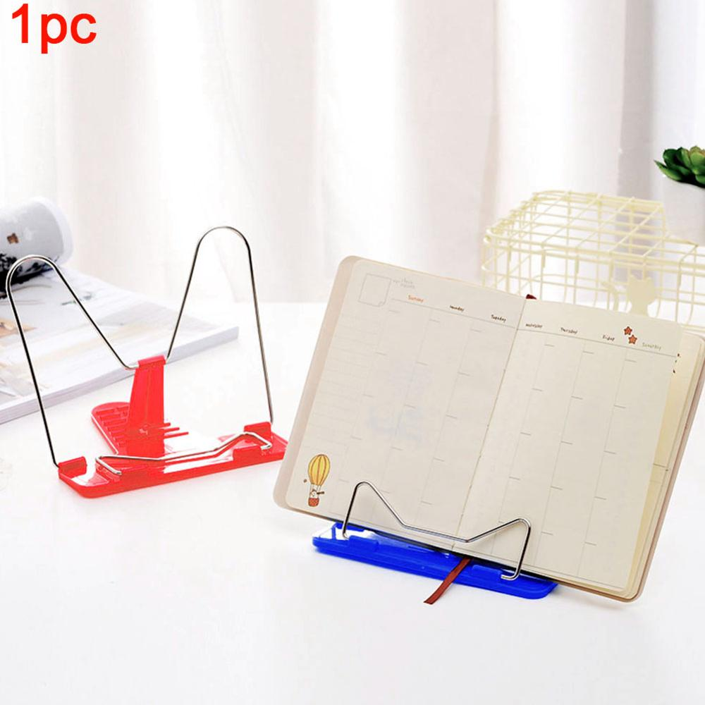 Lightweight Library Office Desktop For Home Reading Frame Music Sheets Adjustable Holder Bookends Fold Book Stand Plastic