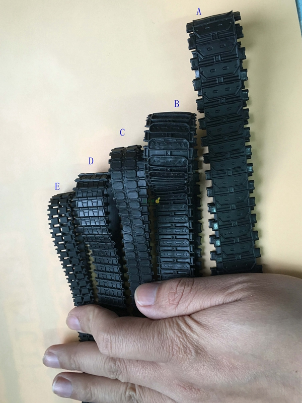 2PCS Rubber Tracks Caterpillar Tank Chassis 66/53/42cm Closed Track Tires For Rock Crawler RC Digger Excavator Spare Parts