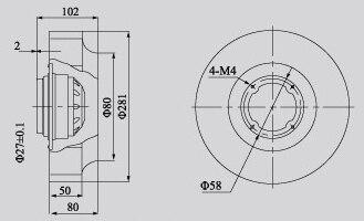 LEIPOLE 280FLW2 M2E09205 AF 220V 50/60Hz 8uF/450V