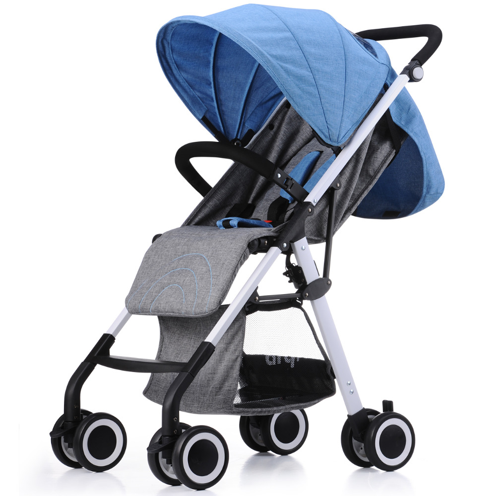 2016 New Arrival Portable Folding Stroller Baby Can Sit and Lie Four Wheels Suspension Travel Baby Stroller цена