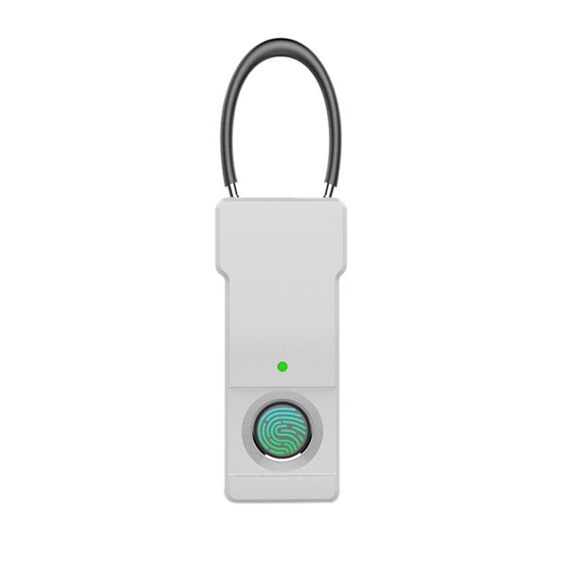 Smart Keyless Fingerprint Padlock Usb Rechargeable Ip65 Waterproof Anti-Theft Security Padlock Door Luggage Case Lock