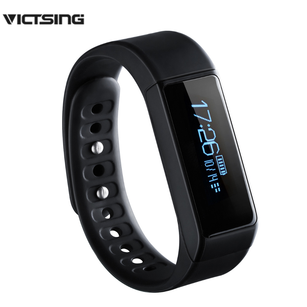 VicTsing Waterproof Smart Bracelet Fitness Tracker Step Counter Activity Monitor Band Alarm Vibration Wristband for IOS