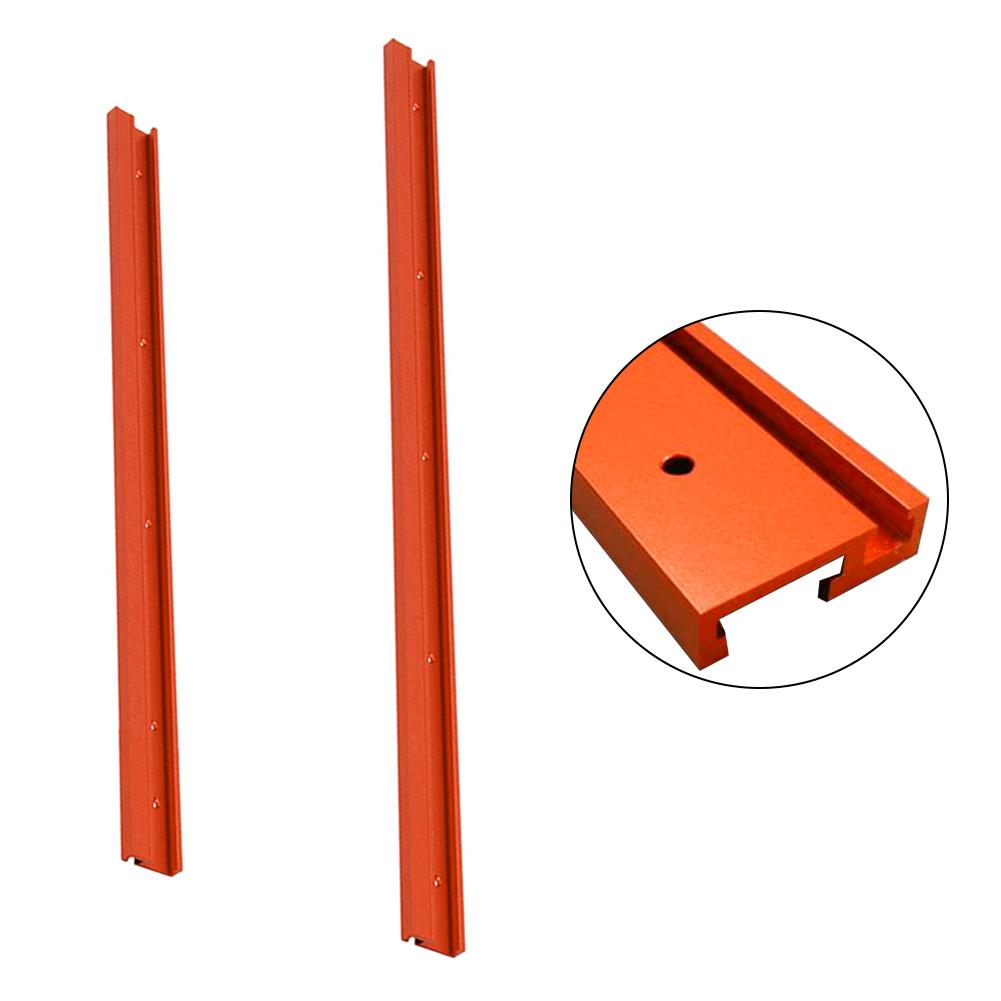 600mm/800mm Standard Red Aluminum Alloy T-track DIY Woodworking T-slot Miter Track/Slot For Jig Fixture Router Table 2pcs t tracks t slot miter track jig fixture slot for router table band saw t tracks length 300 400 600 800mm kf713