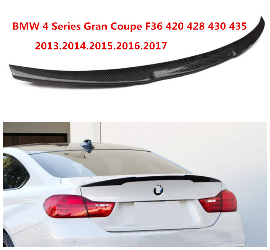 Carbon Fiber Spoiler For BMW 4 Series Gran Coupe F36 420 428 430 435 2013.2014.2015.2016.2017 HighQuality Car Rear Wing Spoilers