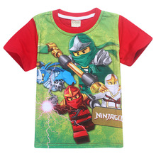 Top Boy Cotton Ninjago T-shirt summer