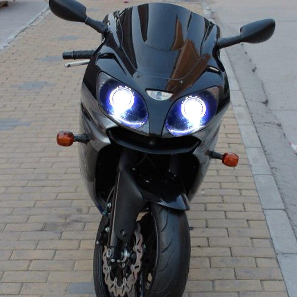 KT Headlight For Kawasaki Ninja ZX9R ZX 9R 2000 2003 LED Angel Eye Blue Demon Eyes Motorcycle HID Projector Assembly 2001 2002 On Aliexpress