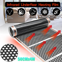 50CM*4M Floor Infrared Underfloor Heating Film Honeycomb Reticulated 220V For Room New Arrival