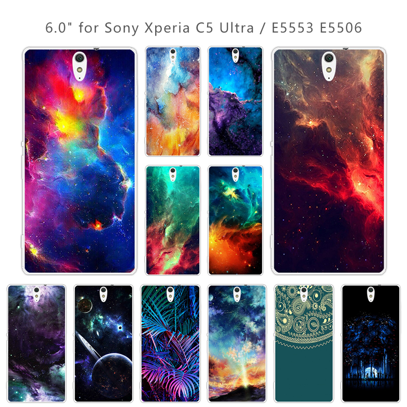 For Sony Xperia C5 Phone Cases Soft Silicone Nebula Back Cover 6.0 inch Clear TPU for Sony Xperia C5 Ultra / Dual E5533 Coque