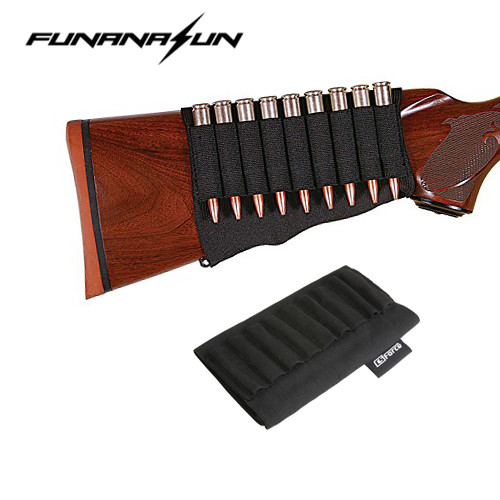 Tacitcal 9 Rounds Rifle Bullet Holder Butt Stock Shell Pouch bag case Ammo Carrier Cartridge Hunting Military Ammo Holder mini kompas sleutelhanger
