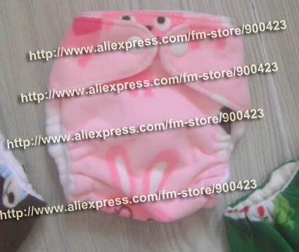 Моющиеся Новорожденные ткань пеленки 1 шт. ткань пеленки+ 1 шт. вставки - Цвет: Pink rabbit B