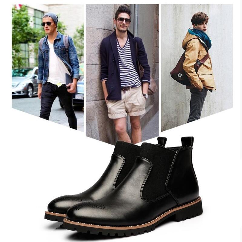 YIGER Men's Chelsea Boots 6