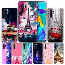 Fashion Soft Rubber Case For Huawei Honor 8X 9 10 8C Mate 20 lite Y9 Y6 Y7 Prime Pro 2019 Cover France Paris the Eiffel Tower ro(China)